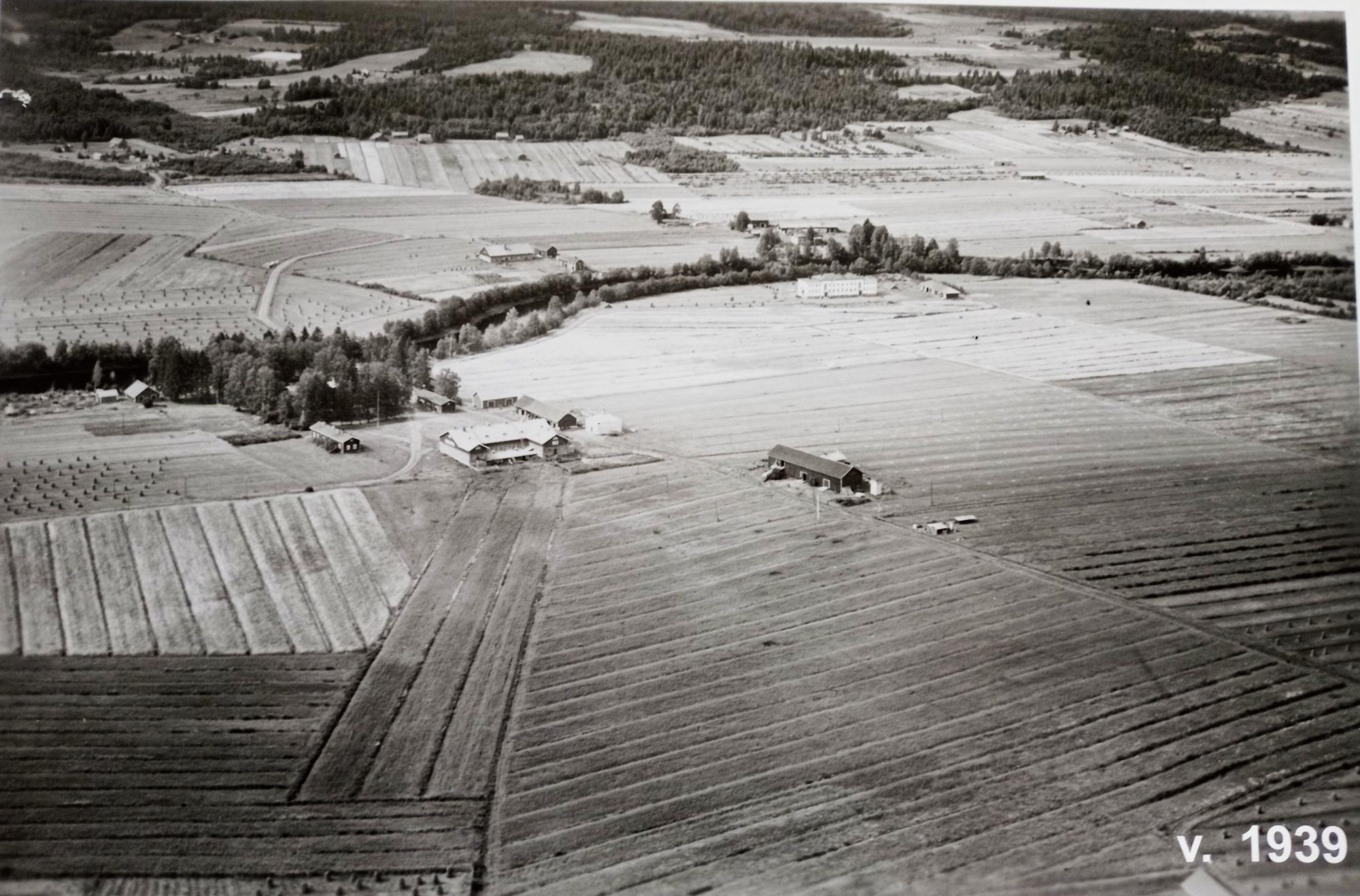 Ilmakuva Värtsilästä 1939. Kuva Värtsiläisten seura ry